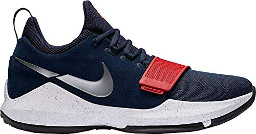 Nike Mens Pg 1 Leather Low Top Lace Up Basketball Shoes, Multi, Size 11.0