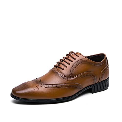 Zapatos para Hombre, Zapatos Brogue Bajos Resistentes al Desgaste de Primavera, Calzado...