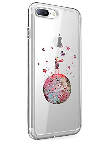 Funda iPhone 7 Plus iPhone 8 Plus Case,Caler  Suave TPU Gel Silicona Ultra-Delgado Ligera Anti-rasguños Dibujos Protección Cuentos de Hadas Carcasa (Pequeño Príncipe Principito Planeta)