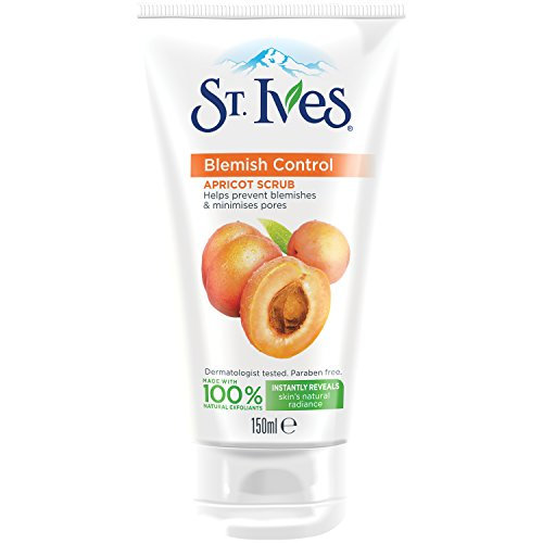 St.Ives - Exfoliante facial antiimperfecciones, de albaricoque, paquete de 3