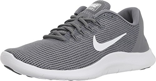 Nike Women's WMNS Flex 2018 RN Running Shoes, Multicoloured (Cool Grey/White/Cool Grey 016), 8 UK