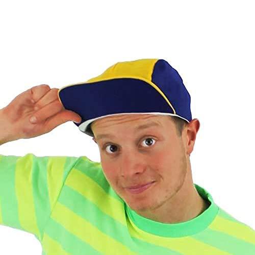 Blau-gelbe Retro-Baseball-Kappe, die an die 90-er erinnert.
