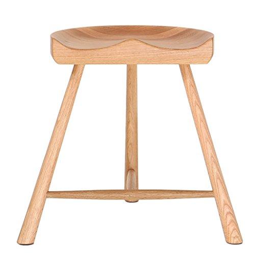 Kruk, barkruk, barkruk, barkruk, massief hout, wit, eiken hoog, barkruk, lage dressurkruk, stool B