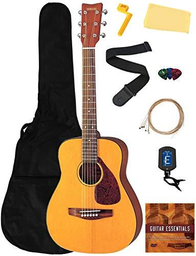 Yamaha JR1 Junior-Size 3/4-Size Acoustic Guitar Bundle with Gig Bag, Tuner, Strap, Strings, Picks, Instructional DVD, and Austin Bazaar Polishing Cloth