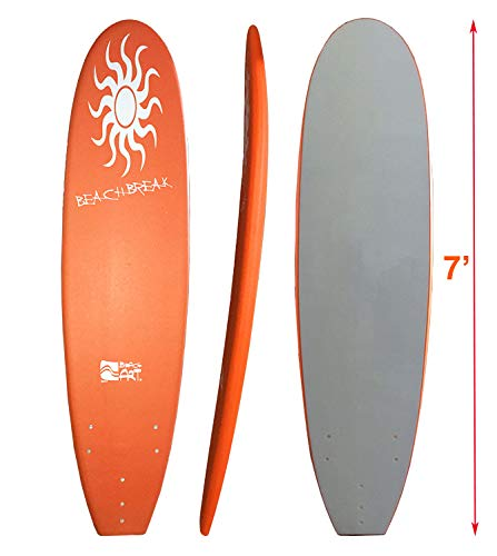 Beach Art XPE-213, tavola da Surf Morbida Gioventù Unisex, Arancione, 213x53x7,5