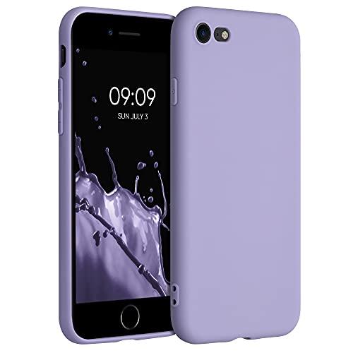 kwmobile Custodia Compatibile con Apple iPhone 7/8 / SE (2020) - Cover in Silicone TPU - Back Case per Smartphone - Protezione Gommata Lavanda Lilla