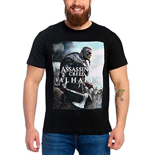Assassin's Creed Herren T-Shirt Valhalla Cover Baumwolle schwarz - M