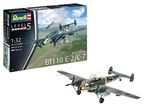 Revell REV-04961 Messerschmitt Bf110 C-2/C-7 Modelmaking, Mehrfarbig, 1/32