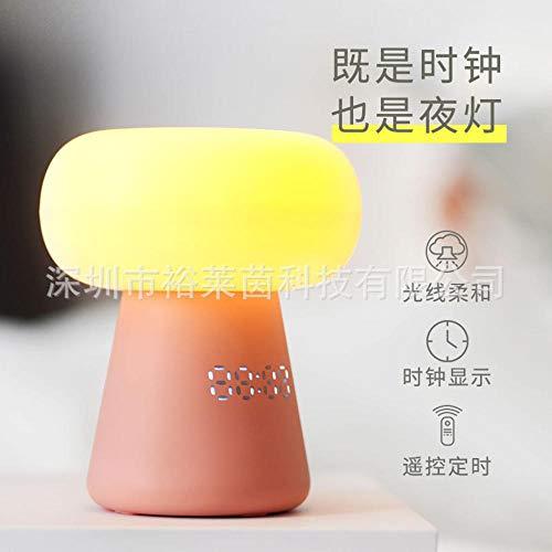 LED Smart Home Champignon Nuage Night Light,télécommande Timing chevet horloge petite lampe de bureau cadeau créatif