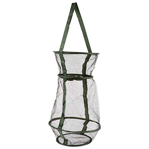 LIOOBO 魚捕り網 漁具 お魚キラー 折りたたみ式 軽量 コンパクト 25cm 魚網 魚捕り網かご 餌を入れて待つだけ