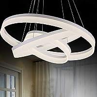 ZMD 現代のLEDランプシンプルな3つの環状リングサークルアクリル素材の個性リビングルームの寝室の照明灯