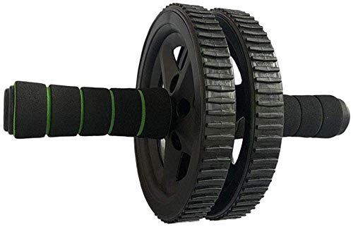 Kyman Rodillo Generir Rueda de formación básica de Entrenamiento Abdominal Roller Ejercicio y aparatos de Ejercicios for Bajar de Peso y tonificación Muscular Hombres Mujeres-Negro (Color : Black)