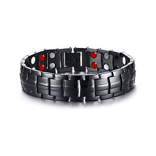 Magnetische Armband Heren Titanium Staal Magnetische Therapie Armband voor Artritis Pijnverlichting, voor Vriend/Echtgenoot/Zoon/Vader