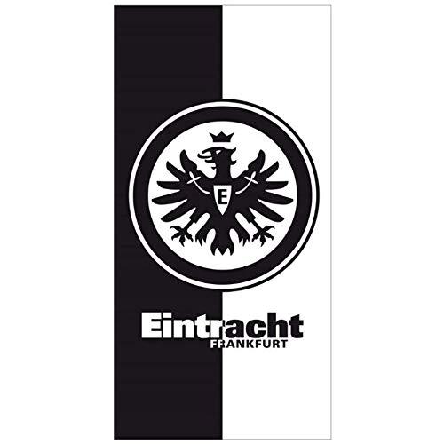Eintracht Frankfurt Handtuch schwarz/weiß 50x100 cm