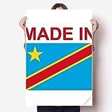 DIYthinker Hecho en Congo País del Vinilo del Amor Etiqueta de la Pared del Cartel Mural del Papel Pintado de la Etiqueta de Habitaciones 80X55Cm
