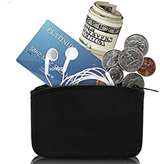 """Genuine Leather Coin Purse, Coin pouch Made In U.S.A. With YKK Zipper Size 5x3"""" Change Holder For Men/Woman"""