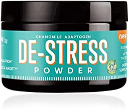 De-Stress Powder - Stress Relief - Anti Anxiety Supplement | Extra Strength | Calm & Natural Mood Herbal Support - (25 Servings) w/L-Theanine, Ashwagandha, Chamomile, GABA & Valerian Root - Tea - 4oz