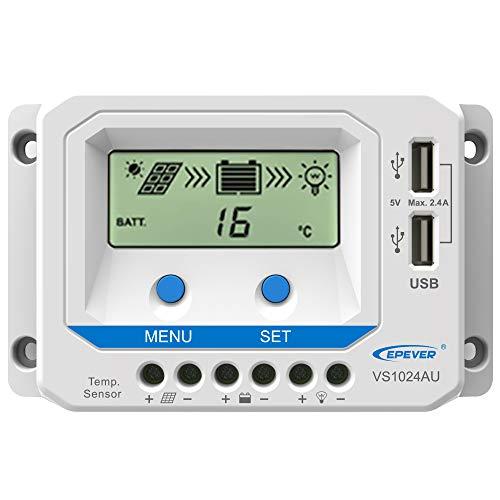 Blusea ViewStar-AU Serie (10-60A) PWM-Solarladeregler für 12 V / 24 V / 36 V / 48 V LCD-Anzeige mit negativem geerdetem Solarregler für gelversiegelte, überflutete Lithiumbatterie