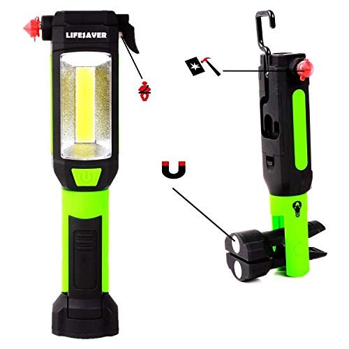 【2021】Lifesaver Emergency Car LED Flashlight - Car Safety Hammer, Emergency Escape Tool with Car Window Breaker and Seat Belt Cutter, Life Saving Survival Kit (Batteries Included)