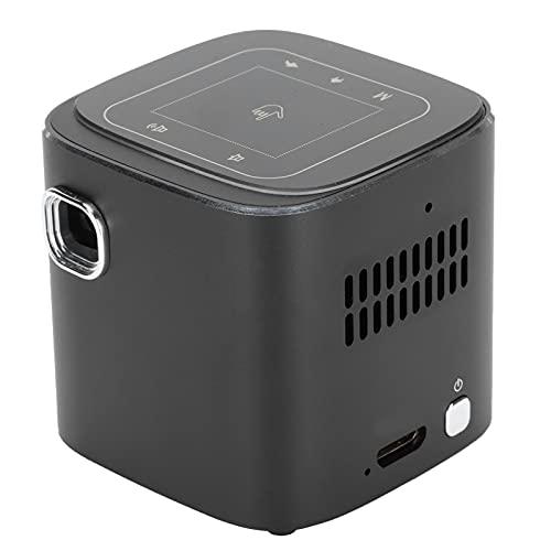 Proiettore HD 1080P, Portatile Proiettore di Film con Treppiede, Schermo da 120'' Videoproiettori Telecomando Cinema in Casa con Pannello Tattile Smart per Laptop USB Scatola X PS4 PC Android iOS(EU)