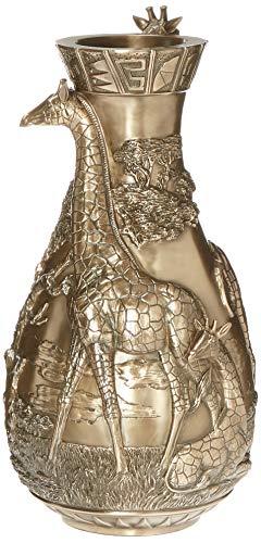 Design Toscano WU72002 Vase sculpté Design Girafes de la Savane, Bronze, 21,5 x 21,5 x 43 cm