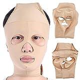 Mascarilla Vendaje, V Cara Máscara de Elevación, Facial Vendaje de Cara Delgada, Herramienta de Cuidado de la Salud, Masajeador Facial, Máscara de Belleza para Mujer y Hombre(S)