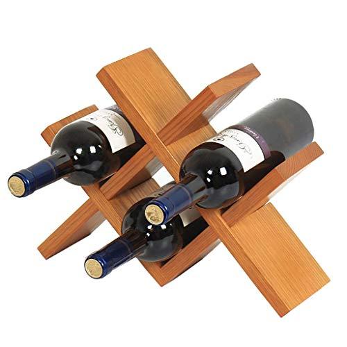 W-SHTAO L-WSWS Racks de Vino Estante del Vino Decoración Hogar Simple del Estilo de pic Cuatro Botellas de 36 X 10 X 27 cm