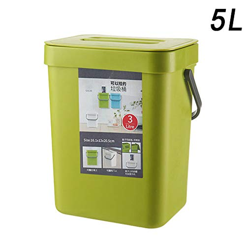 Fanville Keuken Opknoping Type Prullenbak Huis Slaapkamer Badkamer Wandmontage Kunststof Vierkant Garbage Kan Waste Rubbbish Bins Vuilnisbak