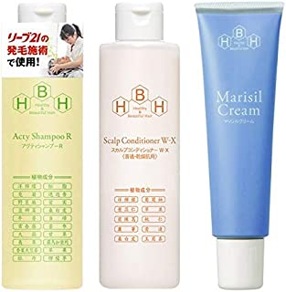 Hair Release Specialty Sleeve 21 Active Shampoo R & Maricil Cream 5.3 oz (150 g) & Scalp Conditioner W-X (For Normal & Dry...