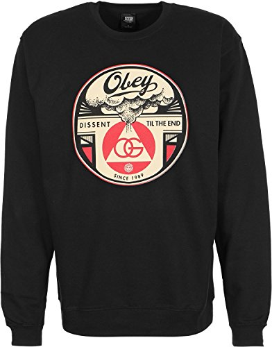 Obey Dissent til the End Sweater M black