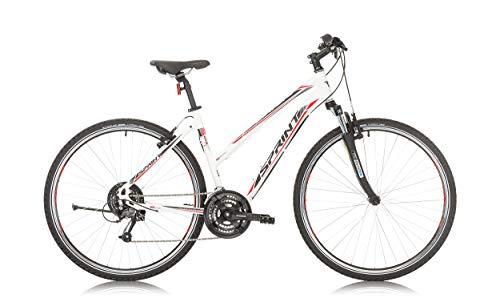"BIKE SPORT LIVE ACTIVE Sprint SINTERO Damen City Fahrrad 28\"" Zoll Rahmen 430 mm 480 mm Weiß Matt (480 mm)"