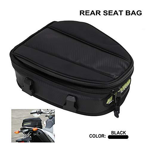 YSMOTO Bolsa de asiento trasero de motocicleta de alta capacidad, impermeable, bolsa de cola multifuncional, mochila duradera para almacenamiento de casco