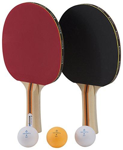 TECNOPRO Tischtennis-Schläger-Set Tournament Dx, Schwarz/Rot, One Size