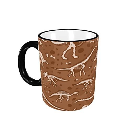 Taza de café con diseño de dinosaurio, taza de cerámica con mango para té, taza de té, taza de café, taza de café, regalo para hombres y mujeres, oficina de trabajo