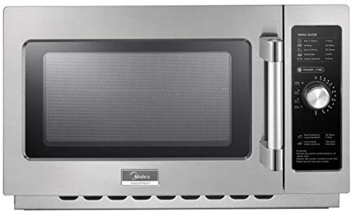 Midea Equipment 1434N0A Stainless Steel Countertop Commercial Microwave Oven, 1400W