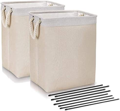 DYD Laundry Basket with Handles 2 Pack Linen Hampers for Laundry Large Sized Waterproof Foldable product image