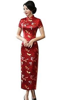 Shanghai Story Chinese Traditional Dress Long Cheongsam China Qipao 4 Red