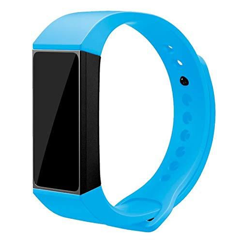 iGlobalmarket Pulsera de reemplazo Ajustable, Correa de Repuesto, Compatible con Xiaomi Mi Band 4C Liso Celeste