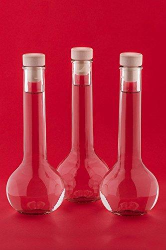 slkfactory 6, 12 oder 24 x 200ml TUL-HGK Glasflaschen Likörflasche Flasche mit Korken Verschluss Likörflasche Schnapsflasche Essigflasche Ölflasche Saftflasche zum selbst Abfüllen, Nr 200ML (12)