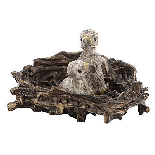Juguete de pájaro, modelo de animal educativo, herramienta de enseñanza, juguete de decoración para niños, modelo de pájaro de(Eagle cubs with nest eagle)
