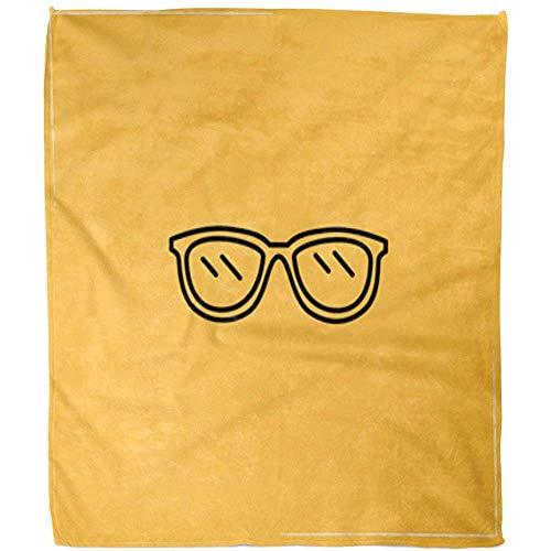 Kuscheldecke Zubehör Spectacle Line Color Corrective Eye Brillen Sehkraft Geek Brille Hotel Decke Fuzzy Throw Decke Bett Warme Fleece Decke Weiches Sofa Büro Wohnzimmer 102X127Cm