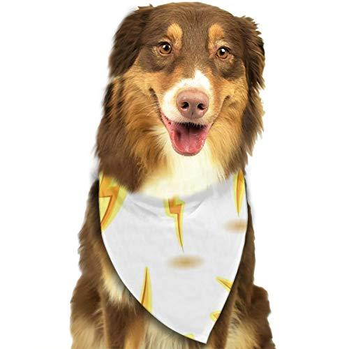 AKLID Lightning Bolts Set Dog Bandana Collars Triangle Neckerchief Bibs Scarfs Accessories Pet Cats and Baby Puppies Saliva Towel