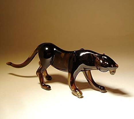 Glass Panther Puma Figurine