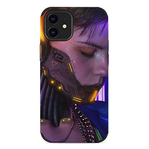Mengghy Cyber-punk Schutzhülle für iPhone 12 (Mikrofaser, fühlt sich gut an, modisch und langlebig)