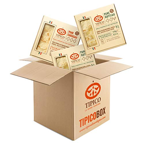 Box misto pane Tipico di Sardegna - 5 confezioni di Pane Carasau e 5 confezioni di Pane Guttiau