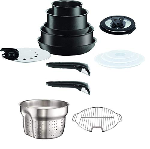 Tefal Ingenio Performance Black 15 Piece Pan Set, Suitable for All Heat Sources Including Induction