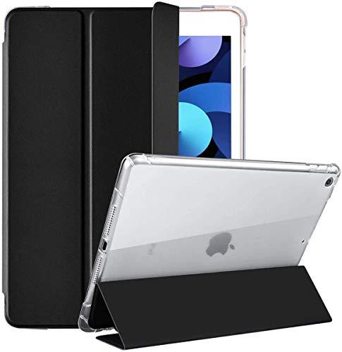 Gahwa Hülle für iPad 8.Generation 2020/7.Gen 2019, Ultradünn Transluzent Schutzhülle Case Cover für iPad 10,2 Zoll mit Auto Schlaf/Weck (Kein Stifthalter) - Schwarz