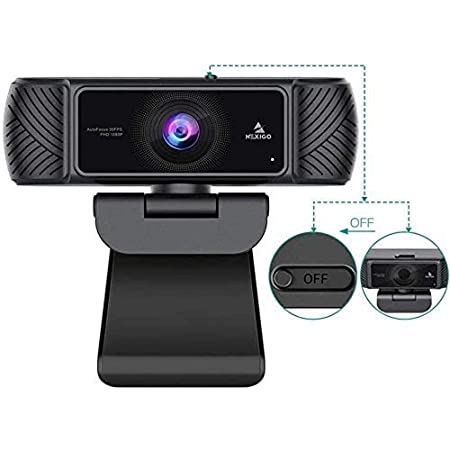 NexiGo 1080P 60FPS Webcam with Microphone for Streaming, Advanced AutoFocus, w/Privacy Cover, N680P Pro Computer Web Camera for Online Learning, Skype Zoom Teams, Mac PC Laptop Desktop (Renewed)