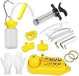 GreeSuit Kit de Purga de Frenos Aceite de Freno de Disco hidráulico de Bicicleta Mineral para Shimano, MAGURA, TEKTRO, SRAM Series MTB Herramientas de reparación de Frenos de Bicicleta