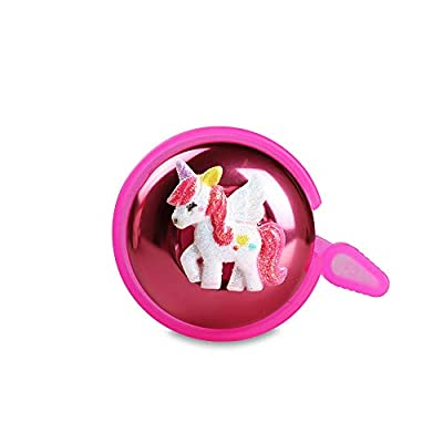 MINI-FACTORY Bike Bell for Kid Girls, Bicycle Handlebar Cute Pink Unicorn Pattern Children's Bike Safe Cycling Ring Horn - 3D Unicorn
